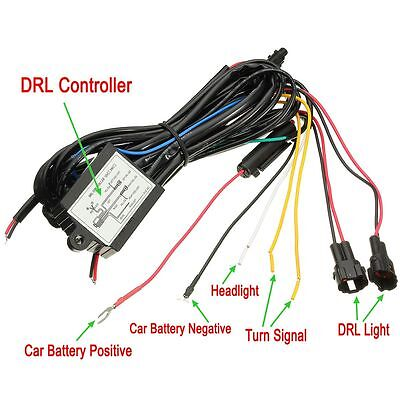 Car - DRL Daytime Running Light Dimmer Dimming Relay Control Switch Harness 12V