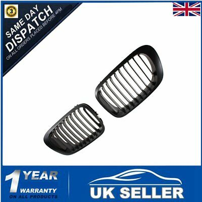 BLACK FRONT KIDNEY GRILLE GRILL For BMW E46 3 SERIES COUPE 2-DOOR 98-02