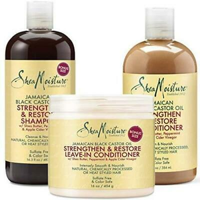 Shea Moisture Jamaican Black castor Oil Strength, Grow & Repair Products