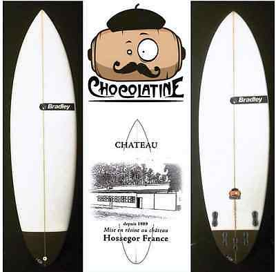planche surf BRADLEY chocolatine surfboard option quad + derives FCS2 5'4 à 6'6