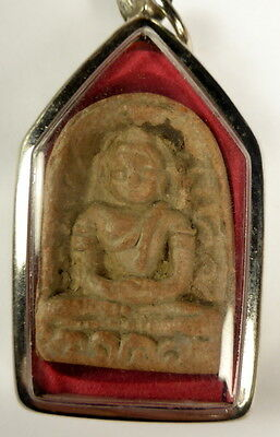 Thai Buddha DOUBLE SIDED PHRA SOOMGOR AMULET. Blessed Wat Bang Phra Temple.