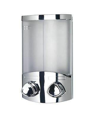 Croydex Euro Duo Wall Mounted Double Soap Shampoo Shower Gel Dispenser Chrome