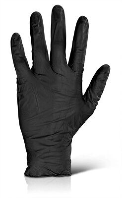 Black Nitrile Disposable Click 2000 Gloves Powder Free - Tattoo Mechanic