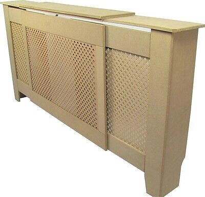 Adjustable Radiator Cover Cabinet Classic Design Unpainted Finish Hide Radiators