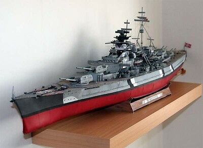Germany Bismarck GPM182 full version of the paper model kit
