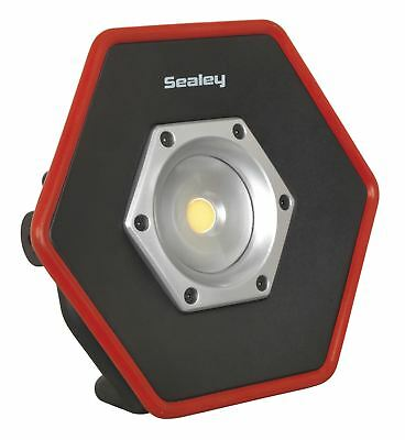 Sealey Rechargeable Floodlight 20W COB LED Lithium-ion Colour Matching CRI 95