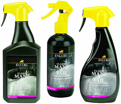 Lincoln classic mane and tail conditioner & detangler for horses manes & tails