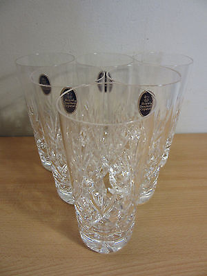 6 Royal Doulton Victoria Crystal Highball Glasses 6 3/8""