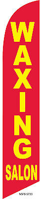 Waxing Salon Advertising 12ft Feather Banner Swooper Flag -FLAG ONLY
