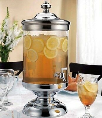 Godinger Shannon Crystal 2.5 Gallon Glass Beverage Dispenser Infusion Jar - New