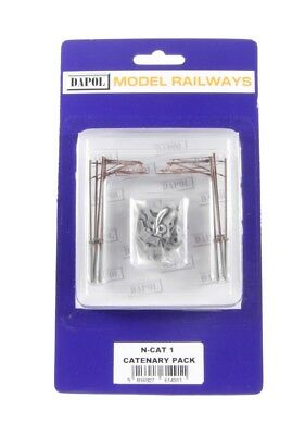 Dapol N Gauge Single Track Catenary Masts x10 NCAT1