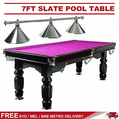 7Ft Pink Slate Pool Snooker Table + Silver Metal Light Free Syd Mel Bne Post*