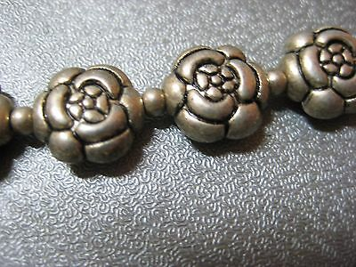 15pcs Flower Silver Plated Spacer