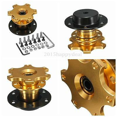 Car Gold Steering Wheel Quick Release Removable Hub Adapter Snap Off Boss Kit UK