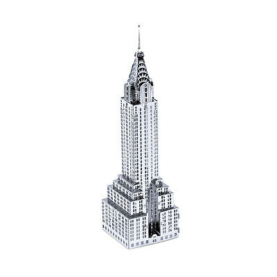 Chrysler Building 3D-Metall-Bausatz Silver-Edition Metal Earth 1009