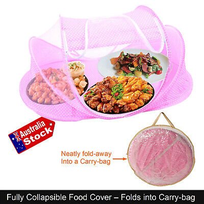 Collapsible Food Cover Tent Pop Up Mesh Fly Wasp Net BBQ Kitchen Food Cover