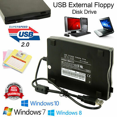 "USB Portable 3.5"" External Floppy Disk Drive 1.44Mb Data Storage For PC Laptop"