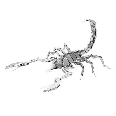 Skorpion Scorpion 3D-Metall-Bausatz Silver-Edition Metal Earth 1070