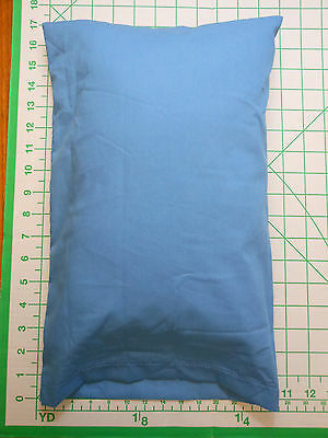 2 piece set: 1 MED. BLUE sm. Pillow Case with 1 custom made WHITE Travel Pillow