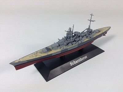 WWII Battleship Scharnhorst 1:1250 scale diecast model with display plinth