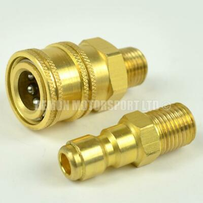 Jet Wash Brass Quick Release Fitting Set 1/4 BSP (Choose Male or Female Thread)