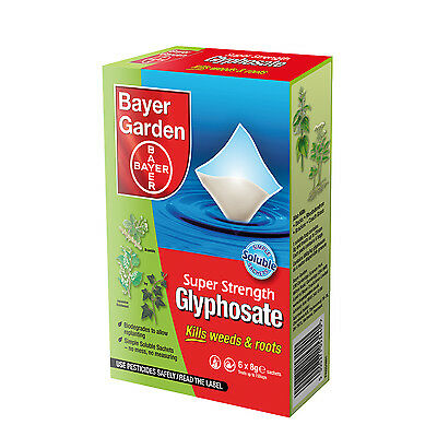 Bayer Garden Rootkill Glyphosate Weedkiller  Very Strong Weedkiller 1- 6 sachets
