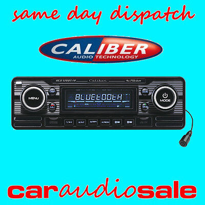 Caliber Rcd120Bt/b Classic Retro Stereo Car Van Bluetooth Cd Mp3 Usb Aux Radio