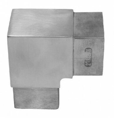 Square tube connectors pipe Elbow joint 90° 30mm Stainless steel A4 ARBO-INOX