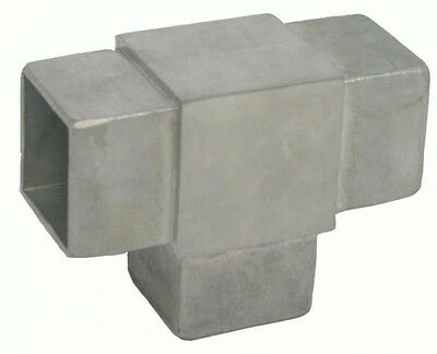 Fitting T-Connector Joint Square pipe Quadrahtrohr t-piece 40mm