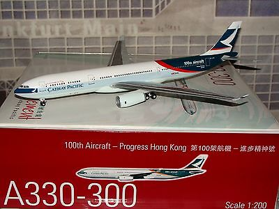 Herpa Hogan Wings 200 Cathay Pacific A330 -300 100th B-LAD 1/200 **Free S&H**