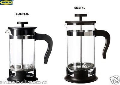 IKEA UPPHETTA Coffee / Tea Maker Glass Stainless Steel