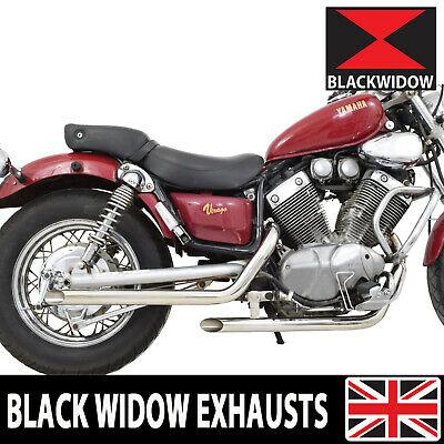 Black Widow Xv535 Xv 535 Virago Drag Pipes Full Exhaust System + Silencers