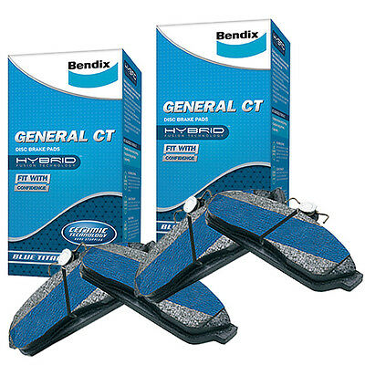 Bendix GCT Front and Rear Brake Pad Set DB1765-DB1766GCT fits Holden Commodor...
