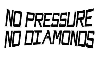 No Pressure No Diamonds t-shirt Ringspun Cotton Soft Feel High Quality