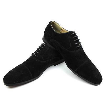 New Mens Dress  Shoes Cap Toe Suede Lace Up Modern Oxfords By AZAR MAN