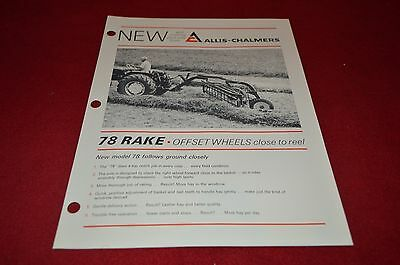 Allis Chalmers 78 Rake Dealer's Brochure YABE7
