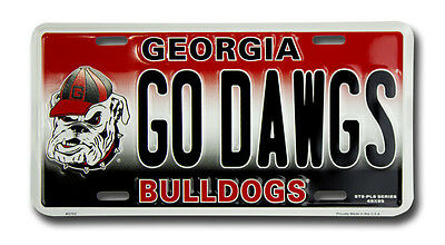Georgia Bulldogs Car Truck Tag License Plate Go Dawgs Football Sign University