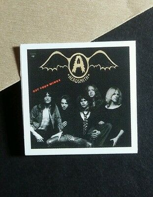 AEROSMITH GET YOUR WINGS BLACK GOLD COVER PHOTO 1x1 SMALL MUSIC STICKER