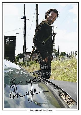 The Walking Dead Andrew Lincoln Signed Photo Size A4 Rick Grimes