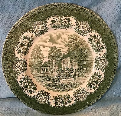 Fox Hunt Hunting Large Serving Plate Charger English Ironstone Green Tableware