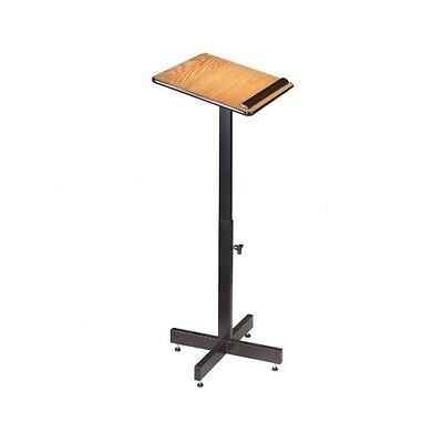 Portable Podium Lectern Adjustable Light Weight Stand Classroom Office Oak New