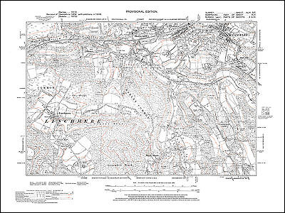 Haslemere (south), Shottermill (south), Haste Hill 1938 - old map Surrey 44-SE