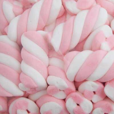 Large White & White Puff Marshmallow Lollies Candy Buffet 1Kg
