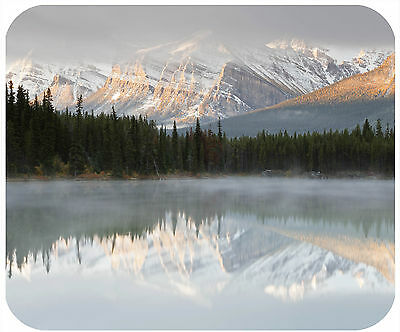 Mouse Pad Custom Personalized Thick Mousepad-Mountain Lake-Any Text