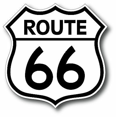 Route 66 Super High Gloss Outdoor 4 Inch Decal Sticker