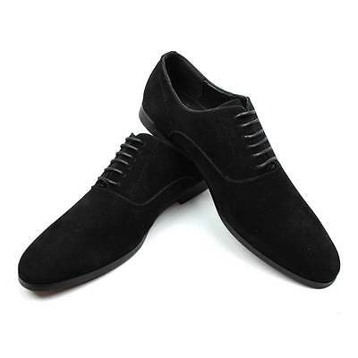 New Mens Dress  Shoes Round Suede Lace Up Modern Oxfords By AZAR MAN