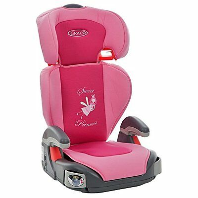 Graco Pink Car Seat Maxi Junior Princess Group 2-3 highback booster 4-11yr 15kg+