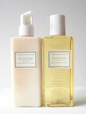 Crabtree & Evelyn Summer Hill Body Lotion & Bath and Shower Gel 6.8 Ounce