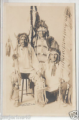 RPPC - Canadian Indian Chiefs - early 1900s