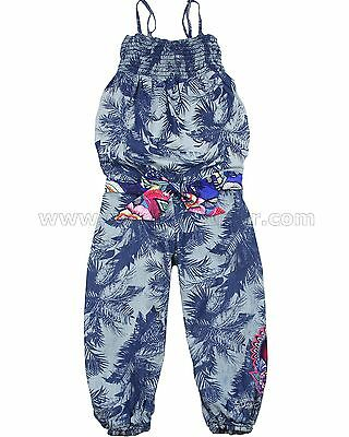 Desigual Girls Denim Jumpsuit Casamian, Sizes 5-14